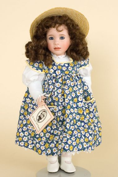 Daisy - limited edition porcelain collectible doll  by doll artist Wendy Lawton.