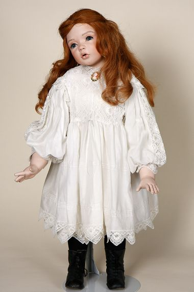 Holly - collectible limited edition porcelain soft body art doll by doll artist Barbara Gudgeon.