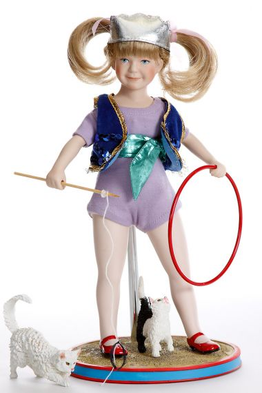 Maggie the Animal Trainer - limited edition porcelain soft body collectible doll  by doll artist Ashton-Drake.