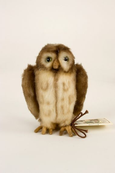 Pocket Owl - collectible limited edition felt molded miniature doll by doll artist R John Wright.