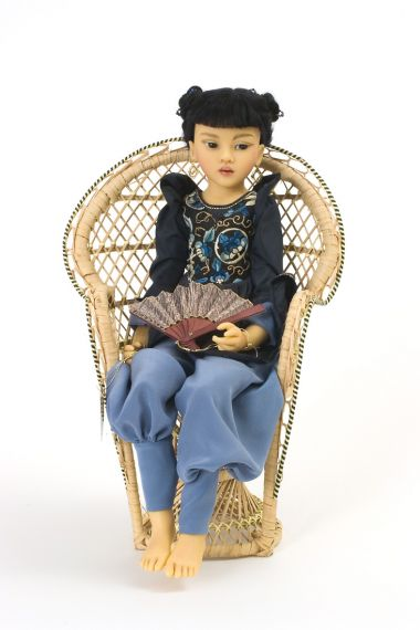 Perle 2 - collectible limited edition resin art doll by doll artist Heloise.