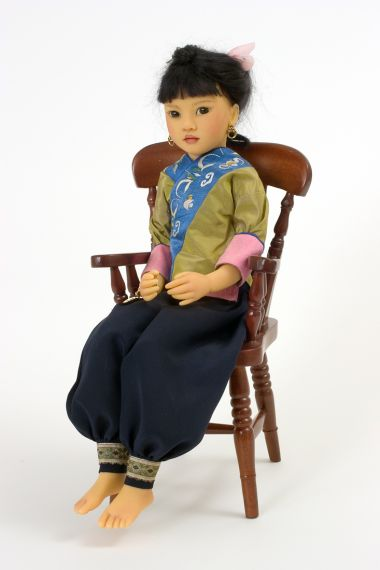 Jade II  no.17 of 60 - collectible limited edition resin art doll by doll artist Heloise.