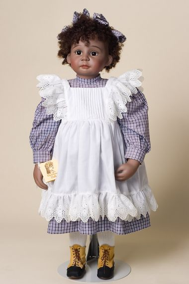 Aurora - collectible limited edition porcelain art doll by doll artist Cheryl Pabst-May.