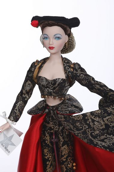 Gene Song of Spain 76065 - collectible limited edition vinyl hard fashion doll by doll artist Mel Odom.