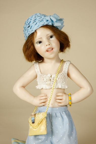 Hilona Polymer Clay One Of A Kind Art Doll By Nadine