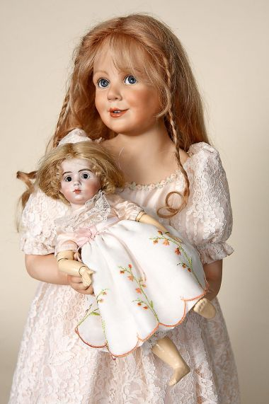 Sofie - collectible limited edition porcelain soft body art doll by doll artist Amalia Pastor.