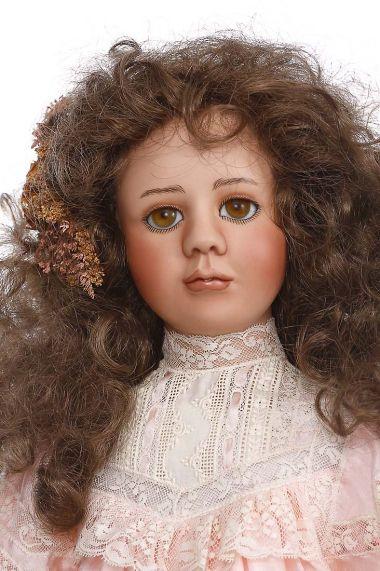 Bella - collectible limited edition porcelain soft body art doll by doll artist Cynthia Malbon.