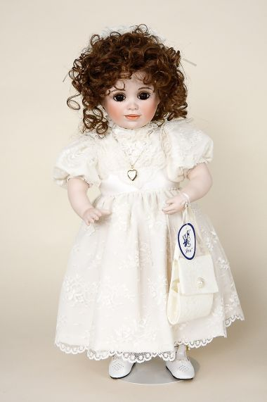 Mary Elizabeth - limited edition porcelain soft body collectible doll  by doll artist Jerri McCloud.