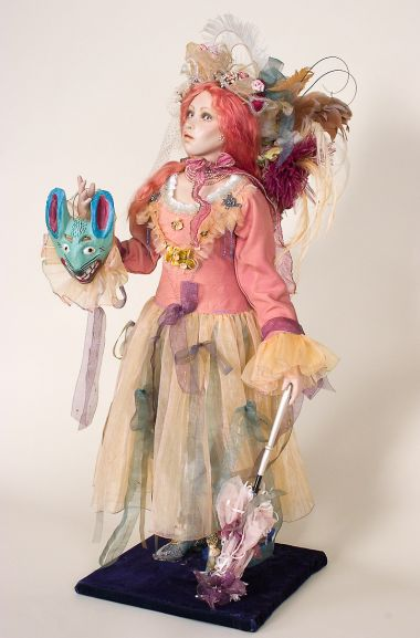 Collectible One of a Kind Porcelain soft body doll Rabbit  Queen by Cindy Koch